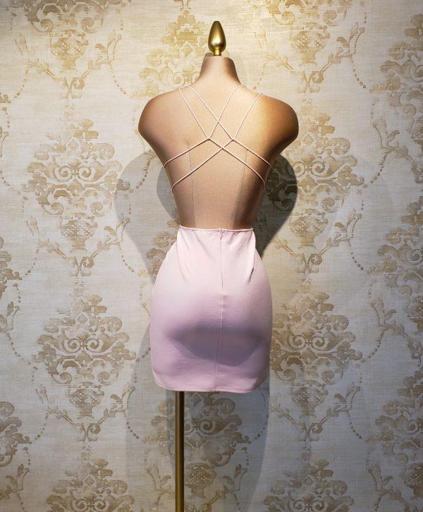 vestido rosa lycra jardin